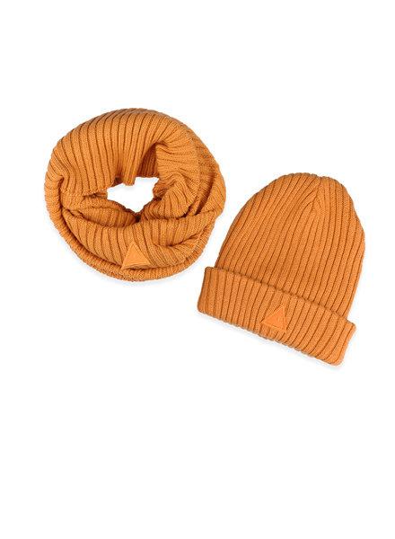 Ammehoela Ammehoela beanie en scarf Bobbie yellow