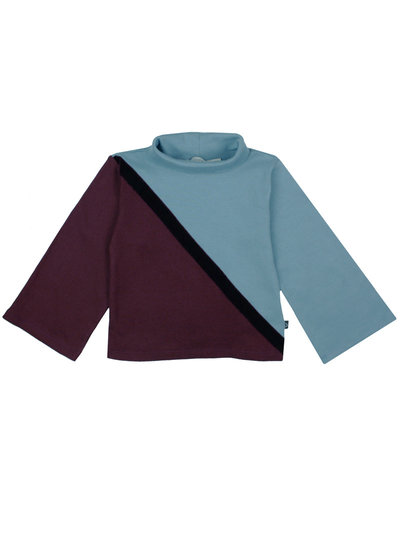 Pimsa Pimsa sweater turtle neck colourblock