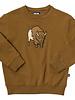 CarlijnQ Bison! een gave bruine sweater met grote geborduurde bison