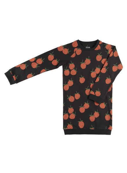 CarlijnQ Blackberry sweaterdress met bessen print