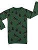CarlijnQ Black bird groene sweaterdress met vogel print