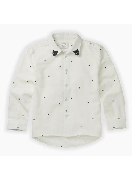 Sproet & Sprout Stoere witte blouse met zwarte stippen