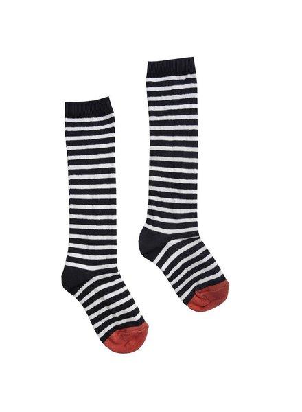 Sproet & Sprout High sock stripe, zwart witte streep