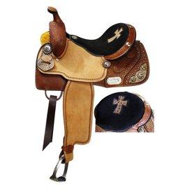 """Double T barrel style saddle.14"""", 15"""", 16"""""""
