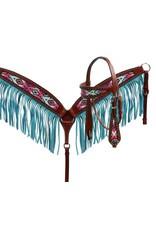 Showman ® Pastel Navajo headstall and fringe breast collar set.