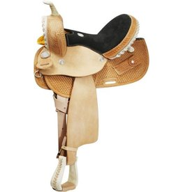 "Circle S 13"", 14"", 15"" Round Skirted Barrel Style Saddle made By Circle S Saddlery."