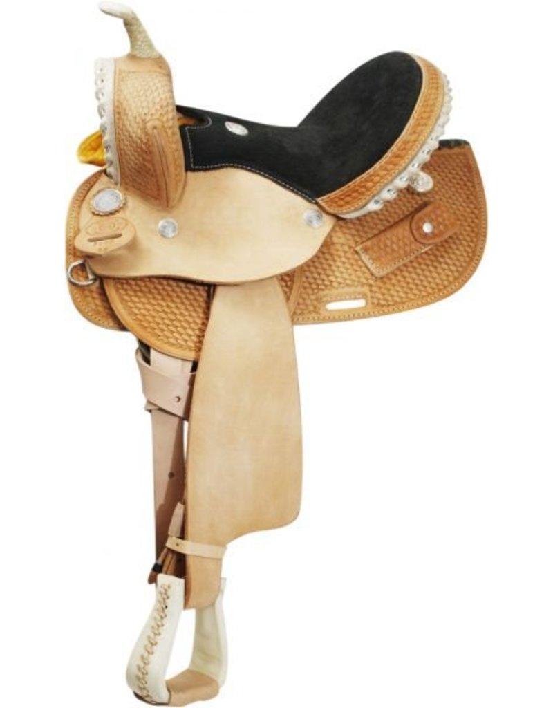 Circle S Round Skirted Barrel Style Saddle made By Circle S Saddlery.
