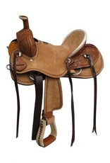 Double T  Youth hard seat roper style saddle.
