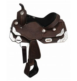 Double T Youth/Pony dark oil show saddle.