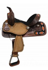 Double T  Youth/Pony embroidered Navajo saddle.