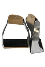 Showman ®  Showman™ Lightweight Twisted Angled Aluminum Stirrups with Wide Rubber Grip Tread.