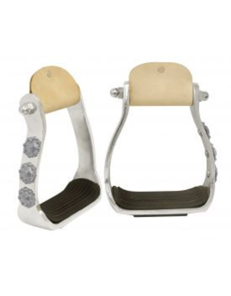 Showman ® Showman ® Light weight polished aluminum stirrups with engraved conchos.