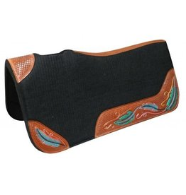 Showman ® Contoured felt bottom saddle pad with painted wear leathers.