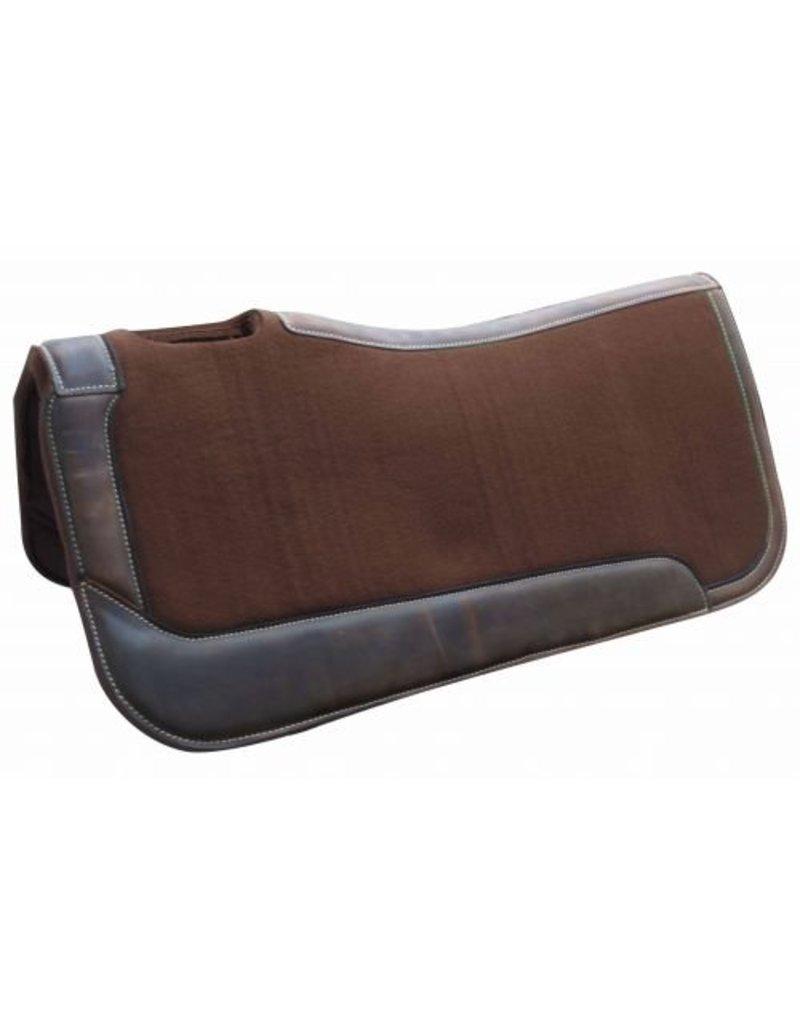 Showman ®  Brown felt saddle pad.