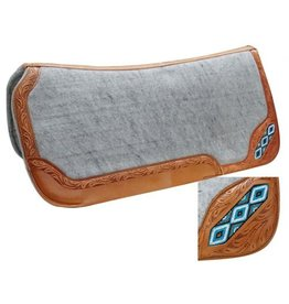 Showman ® Contoured felt bottom saddle pad with beaded inlay.