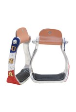 "Showman ® Showman ® ""USA"" Beaded aluminum stirrups."