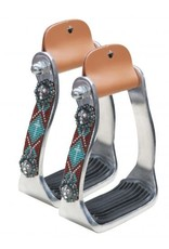 Showman ® Showman ® Polished aluminum stirrup with beaded accents.