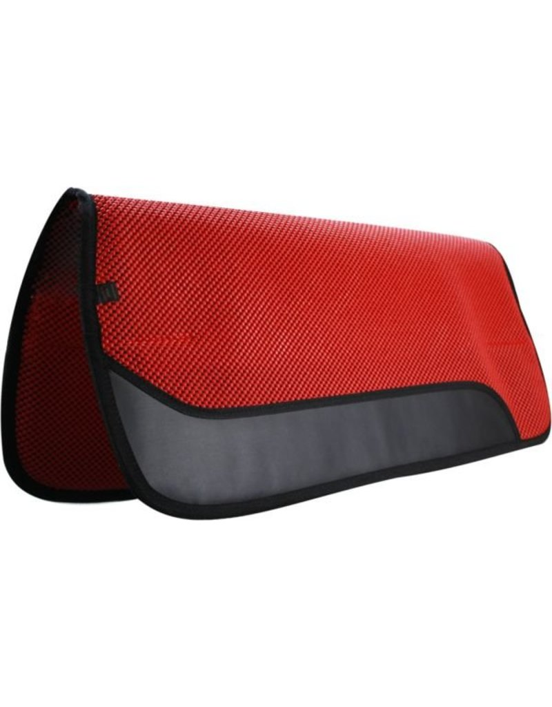 Showman ® Waffle perforated saddle pad with wear leathers.