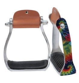 Showman ® Showman ® Shimmering tie dye print stirrup.