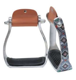 Showman ® Showman ® Shimmering Navajo print stirrup.