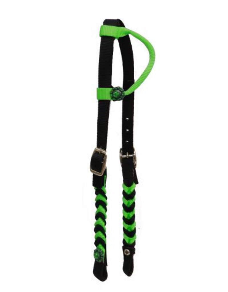 Showman ® Premium braided nylon one ear Headstall.