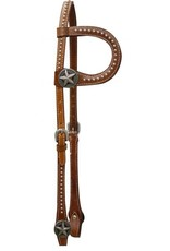 Showman ® Single Ear Headstall with Cut Out Texas Star Conchos.