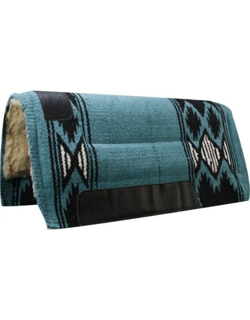 Economy Cutter Style Saddle Pad with Diamond Navajo Pattern.
