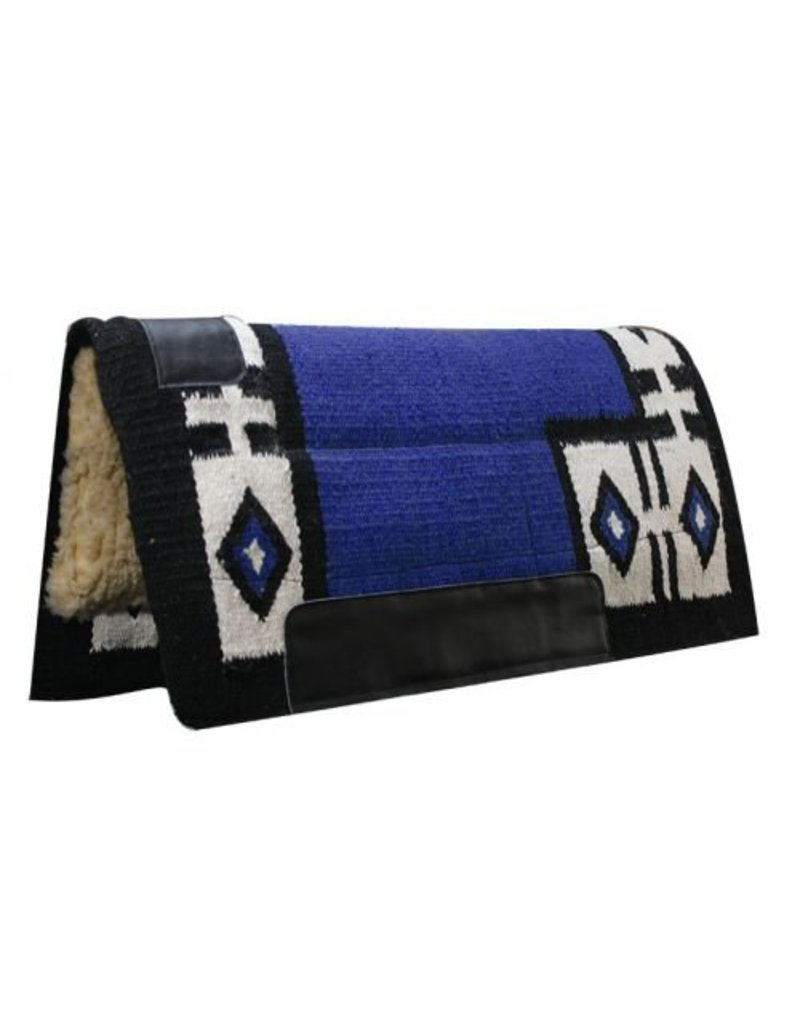Economy Cutter Style Saddle Pad with Diamond Pattern.