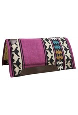 "Economy cutter saddle pad with woven wool top and 1"" fleece bottom."