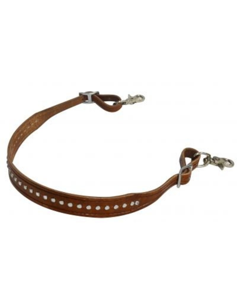 Showman ® wide leather wither strap with crystal studs.