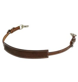 Showman ® Basket weave tooled wither strap.