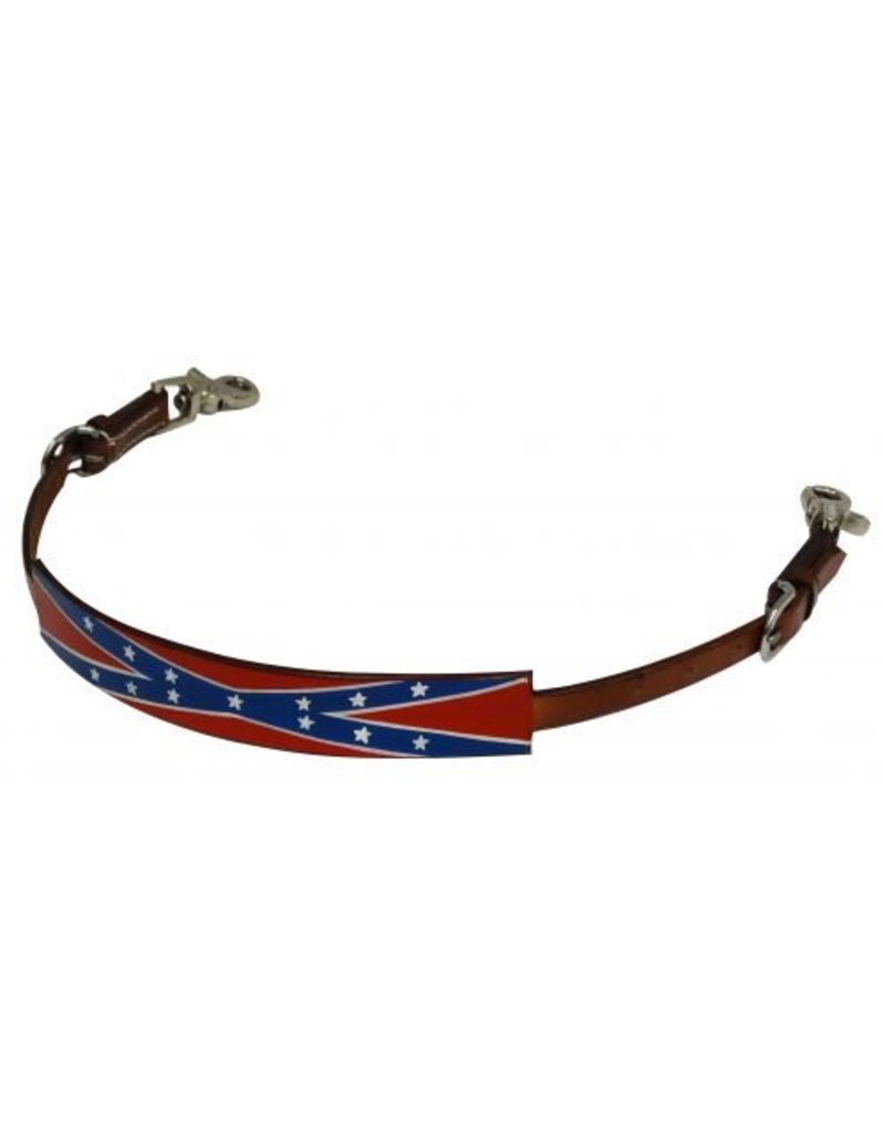 Showman ® Hand painted Rebel flag wither strap.