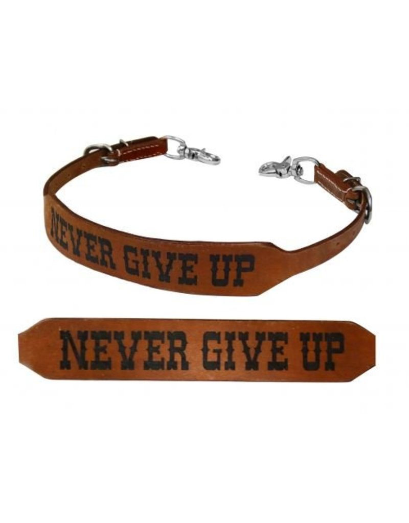 Showman ®  Never Give Up branded wither strap.