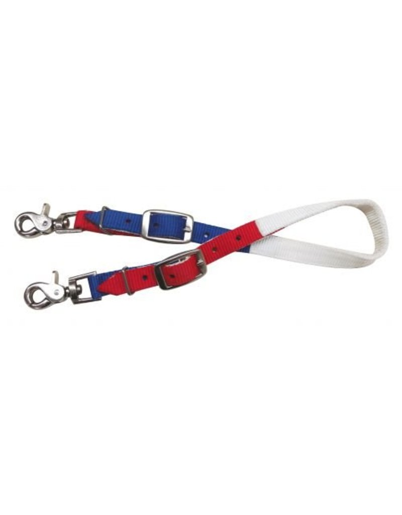 Showman ®  Red, white and blue nylon wither strap.