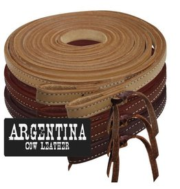 Showman ® 8ft Argentina Cowhide Leather Split Reins.