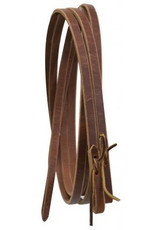 Leather reins with water loop ends.