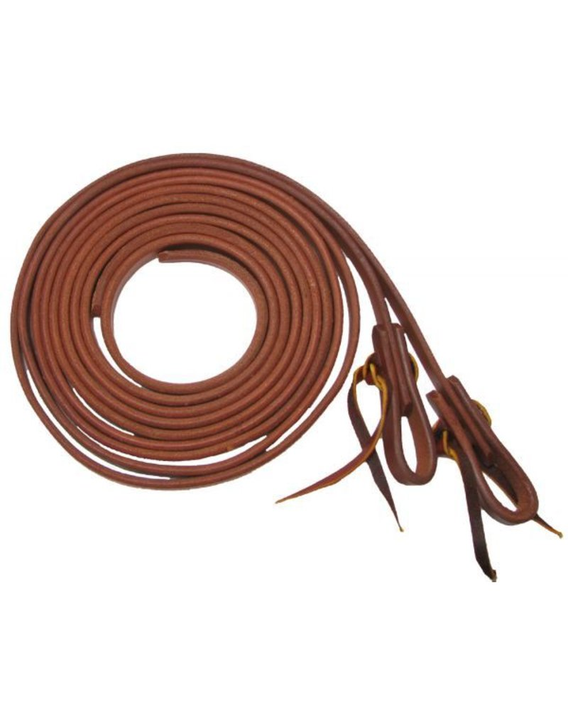 Showman ®  long oiled harness leather split reins.