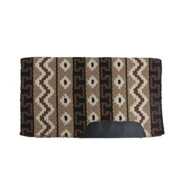 Showman ® Heavy weight woven wool, single ply saddle blanket with smooth leather wear leathers.