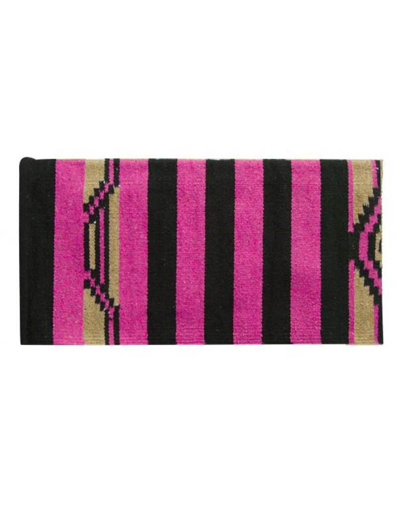 Arcylic top saddle blanket with Navajo design.