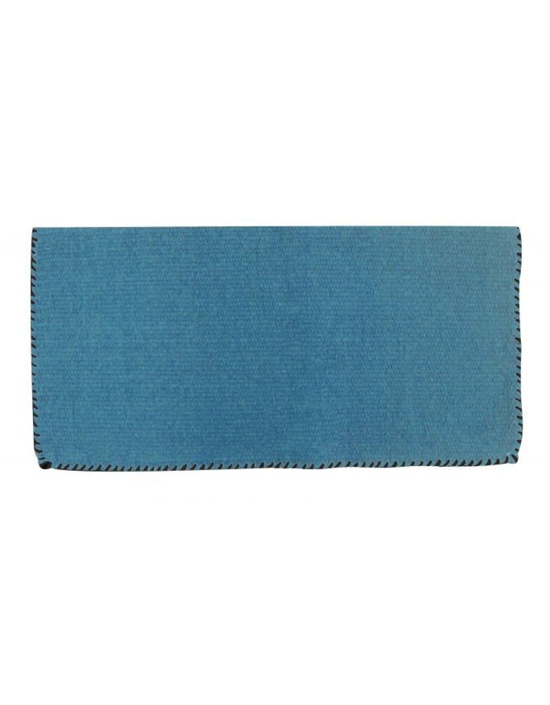 Wool saddle blanket with stiched edges.
