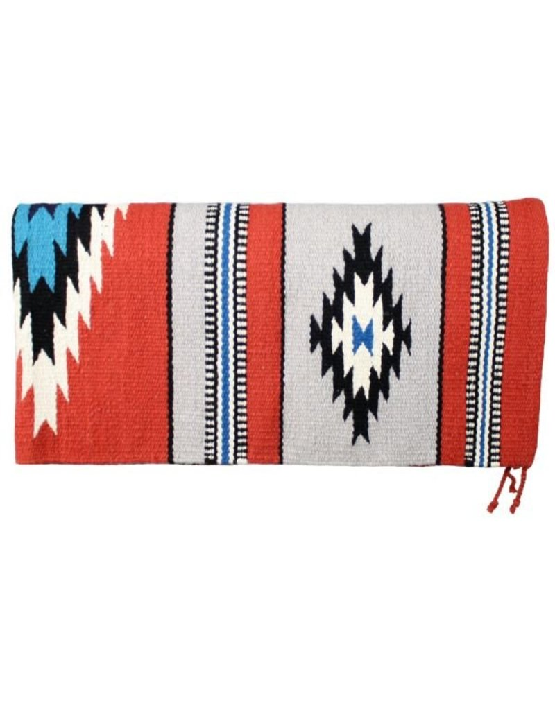 100% New Zealand wool saddle blanket.