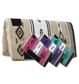 Woven Acrylic Top Saddle Pad with Navajo Design and Kodel Fleece Bottom.