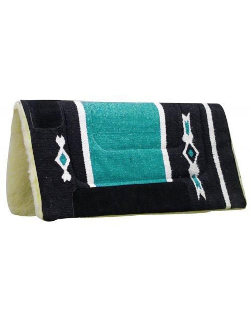 Woven Acrylic Top Saddle Pad with Navajo Design and Kodel Fleece Bottom.