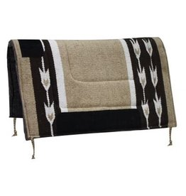 Woven Acrylic Top Saddle Pad with Arrow Design and Felt Bottom.