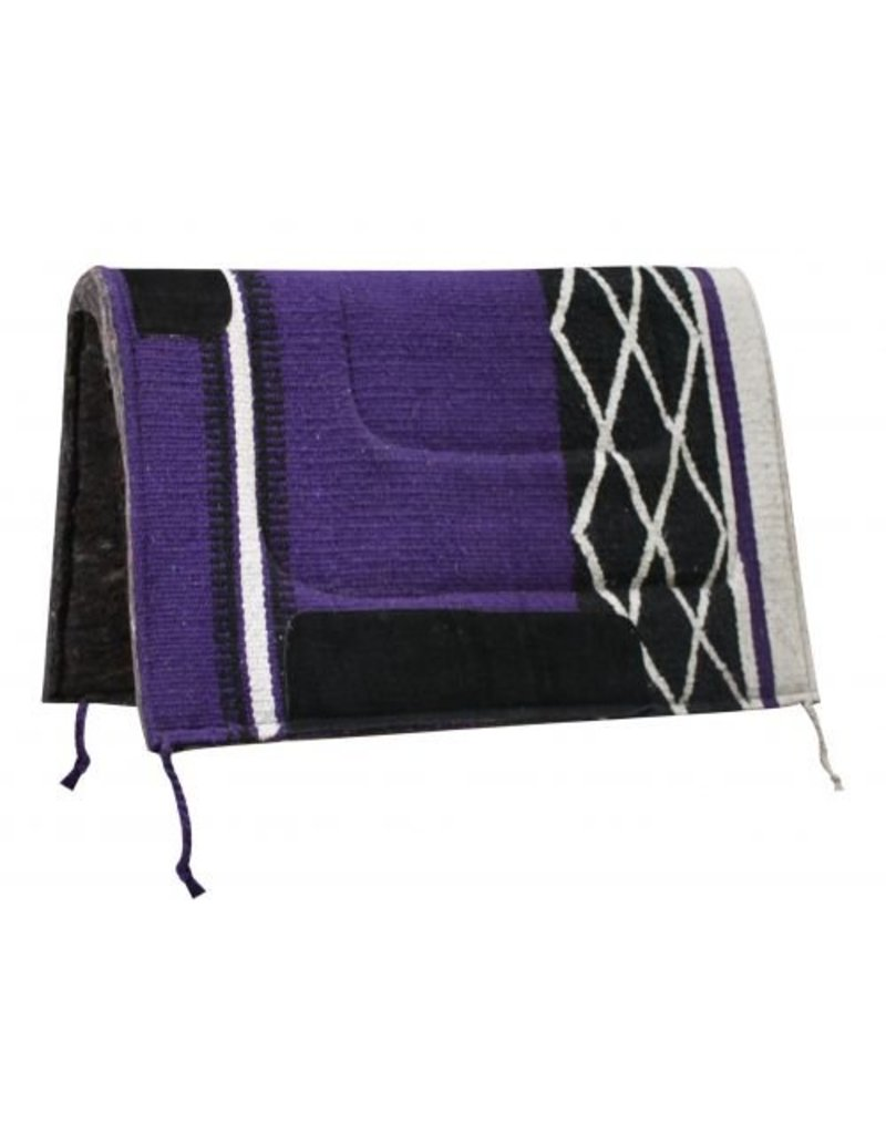 Diamond Design Acrylic Top Saddle Pad with Felt Bottom.