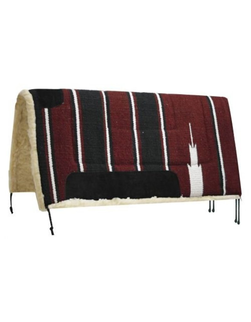 Showman ® Navajo saddle pad with Kodel fleece bottom and suede wear leathers.