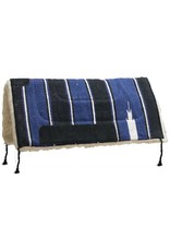 Economy style navajo pad with leather wear leathers and fleece bottom.