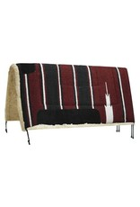 Showman ® oversized Navajo saddle pad with Kodel fleece bottom and suede wear leathers.