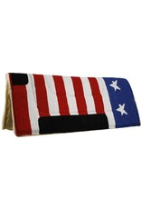 American flag pad with suede wear leathers.