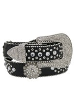 Showman ® Western style bling rosette concho belt with removable buckle.